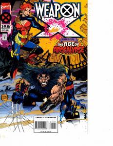 Lot Of 3 Weapon X Marvel Comic Books #1 2 4 Iron Man Thor DC5