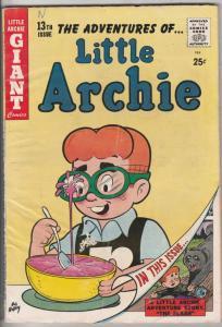Little Archie, The Adventures Of #13 (Dec-59) FN- Mid-Grade Little Archie, Li...