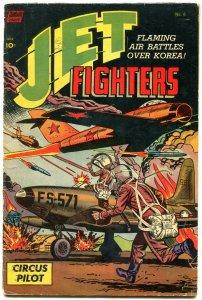 Jet Fighters #6 1953-KOREAN WAR-VIOLENT PARACHUTE COVER G/VG