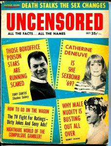 Uncensored 10/1968-Tony Curtis-Catherine Deneuve-Raquel Welch-LSD-VG
