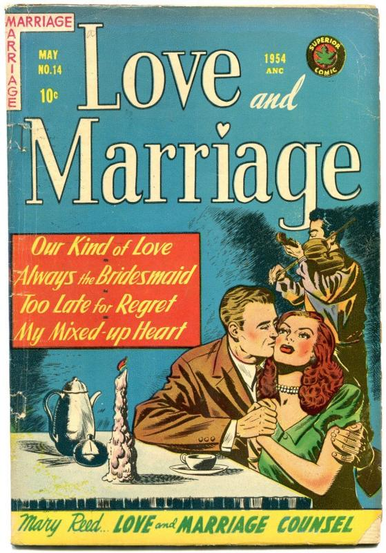 Love and Marriage #14 1954- Spicy cover art- Golden Age Romance G/VG
