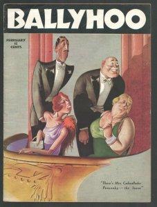 Ballyhoo Magazine 2/1936-Dell-Early issue-Cartoons-jokes-gags-Art by Jack Mar...