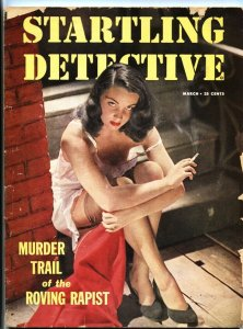 Startling Detective March 1952-True Crime Spicy GGA woman smoking cvr