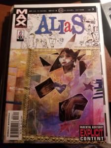 ALIAS #3 (Jan 2002) MARVEL MAX  3rd JESSICA JONES-NM-MT Never Read- Bendis