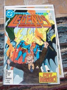 legends comic #4 2nd apperance suicide squad+  john byrne superman batman