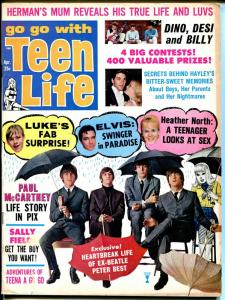 Teen Life 4/1966-Publication House-Beatles-Teena A Go Go-Stones-VG