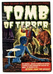 TOMB OF TERROR #6 1952-Harvey-Zombie cover-Pre-code golden age comic