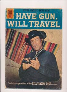 Dell Western Comics HAVE GUN WILL TRAVEL (Photo Cover) #11 Good 1961 (B21)