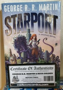STARPORT HC (HARDCOVER GRAPHIC NOVEL) SIGNED by GEORGE R. R. MARTIN & R, GOLDEN