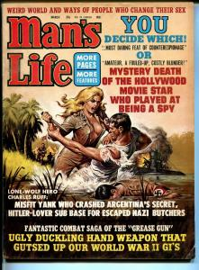 Man's Life 3/1965-Nazi butchers-cheesecake-pin-up girls-WWII-pulp violence-FN