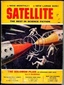 Satellite 4/1959-pulp thrills-Fritz Leiber-Sam Moskowitz-JT Mc Intosh-VG-
