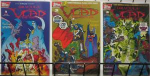 DRACULA VLAD THE IMPALER (1993 TOPPS) 1-3  Complete!