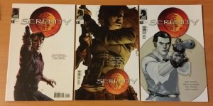 Firefly Serenity 1-3 Complete Set Run! ~ NEAR MINT NM ~ 2005 Dark Horse Comics