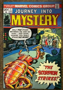 JOURNEY INTO MYSTERY #7  (Marvel, 10/1973) FINE PLUS (F+) Lee/Ditko Reprints