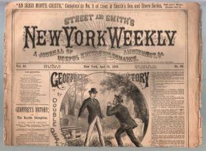 New York Weekly-Dime Novel-Story Paper #26 4/28/1888-pulp fiction-FR