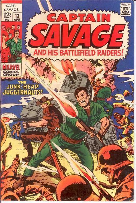 CAPTAIN SAVAGE (1968) 13 FINE April 1969 COMICS BOOK