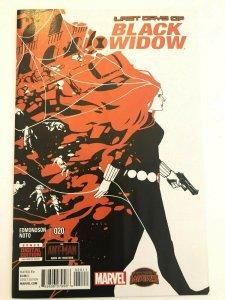 Last Days of Black Widow (2014 Series) #20 Edmondson, Noto Secret Wars NM