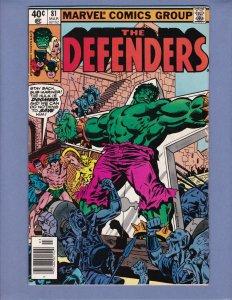 Defenders #81 FN Hulk Dr Strange Namor Marvel 1980