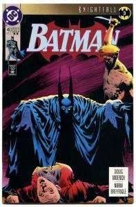 BATMAN #493-SECOND PRINT-HTF-KNIGHTFALL-RARE SECOND PRINT!