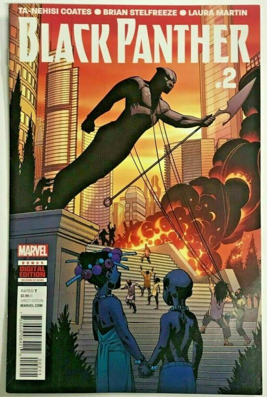 BLACK PANTHER#2 VF/NM 2016 TA-NEHISI COATES MARVEL COMICS