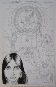 NICOLA SCOTT / DOUG HAZLEWOOD original art,TEEN TITANS #94, pg 1, 11x17, Splash
