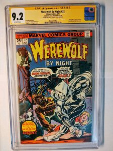 WEREWOLF BY NIGHT #32 CGC 9.2 SS DOUG MOENCH (1st Moon Knight) Pedigree label