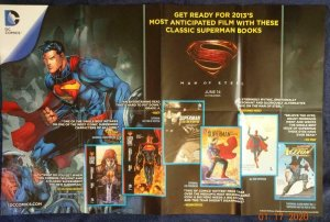 MAN OF STEEL Promo Poster, 22 x 34, 2013, DC  Unused more in our store 500