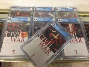 Civil War #1-7 All CGC 9.8