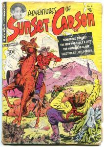 Sunset Carson #4 1951 Kit Carson Keats Petree Golden Age g-