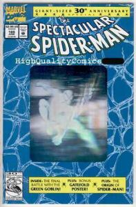SPECTACULAR SPIDER-MAN #189, NM+, Green Goblin, Charles Vess, 30th Ann issue