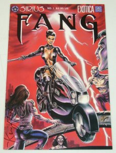 Fang #1 VF; signed by Kevin J Taylor - Sirius - bad girl - vampire comic