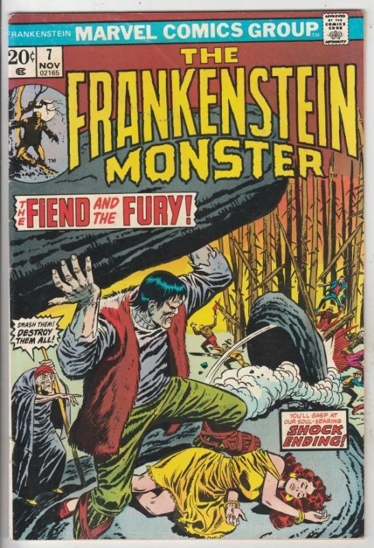 Frankenstein, the Monster of #7 (Nov-73) FN/VF- Mid-High-Grade Frankenstein