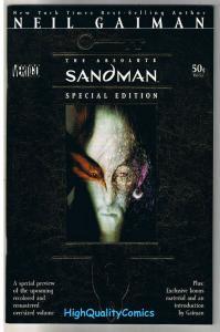 ABSOLUTE SANDMAN preview, NM, Neil Gaiman, Vertigo, 2006, Sam Kieth