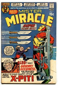 MISTER MIRACLE #2 1971-JACK KIRBY-DC BRONZE Granny Goodness vg