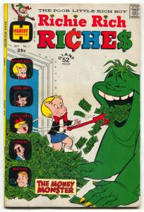 Richie Rich Riches #1 1972- Harvey Giant- money monster FN-