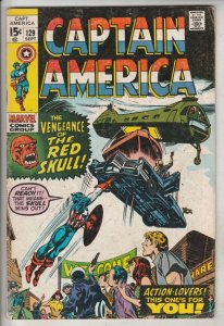 Captain America #129 (Sep-70) VG+ Affordable-Grade Captain America