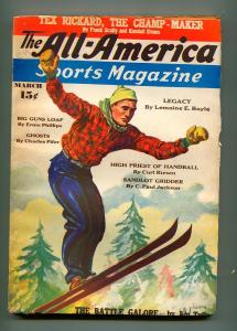 ALL AMERICAN SPORTS MARCH 1937-ALL AMERICAN PERIODICALS-VG-