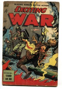 EXCITING WAR #6 1952-STANDARD-FLAME THROWER cvr-Attempted SUICIDE