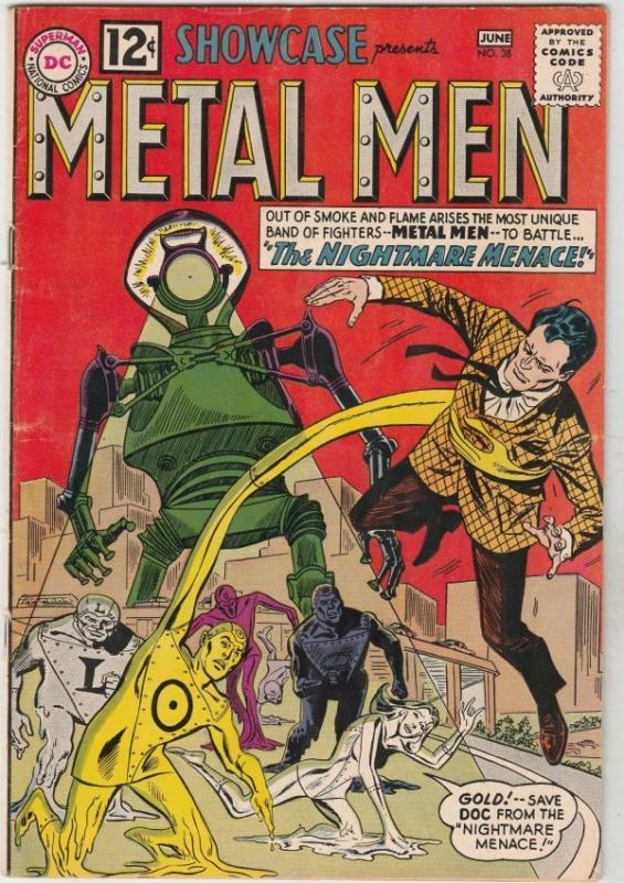 Showcase #38 (Jun-62) VF High-Grade The Metal Men (Gold, Lead, Mercury Iron, ...