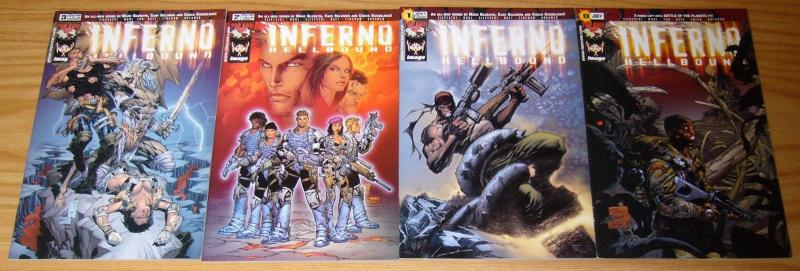 Inferno: Hellbound #0 & 1-3 VF/NM complete series - marc silvestri - top cow