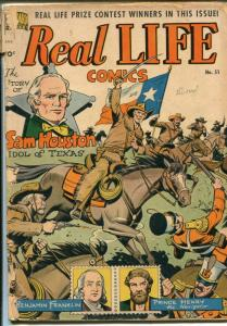 Real Life #51 1949-Nedor-Sam Houston-Jules Verne-Sci-fi-George Evans-FR/GOOD