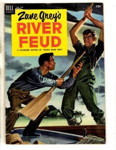 Four Color # 484 FN Dell Comic Book Western Zane Grey River Feud 1953 JL16