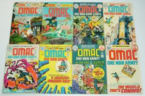OMAC #1-8 VG/FN complete series - jack kirby - bronze age dc set lot 2 3 4 5 6 7