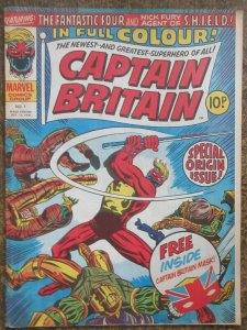 CAPTAIN BRITAIN #1 (Marvel UK, 10/1976) VG NO MASK- LOOSE COVER/STAPLES