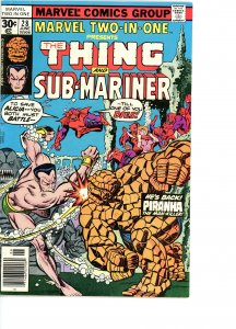 Marvel Two-In-One 28 VG/F  Namor the Sub-Mariner!