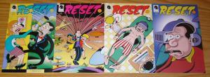 Reset #1-4 VF/NM complete series - peter bagge - dark horse comics set lot 2 3