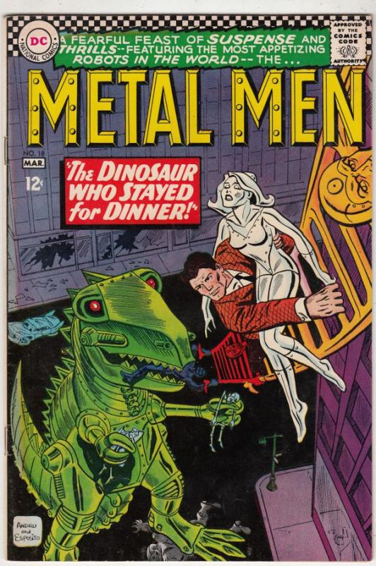 Metal Men #18 (Mar-65) FN+ Mid-High-Grade Metal Men (Led, Tina, Tin, Gold, Me...