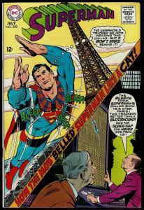 Superman #208 (Jul 1968, DC) Neal Adams Cover 7.5 VF-