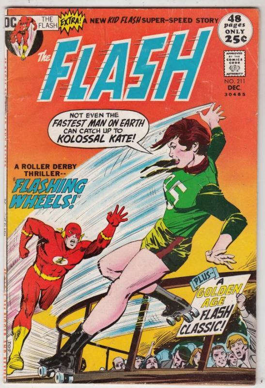 Flash, The #211 (Dec-71) FN Mid-Grade Flash