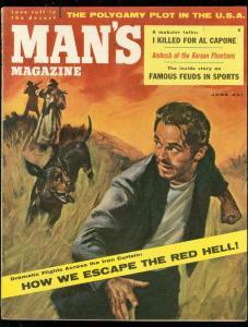 MAN'S MAGAZINE JUNE 1956-AL CAPONE-FAMOUS FEUD-AMA RACE VF
